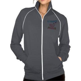 Jaqueta da trilha do velo das mulheres jaqueta com estampa