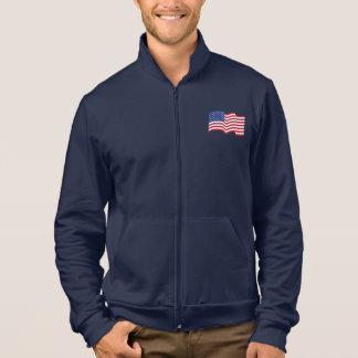 Jaqueta de ondulação da bandeira americana