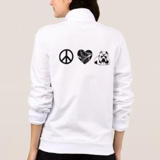 Jaqueta de pouco peso à moda dos pitbull do amor jaquetas estampadas