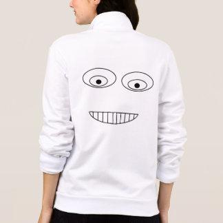 Jaqueta Design embaraçado engraçado do desenho da cara