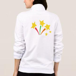 Jaqueta do velo da malhação da estrela de Val com  Jaqueta Com Estampa