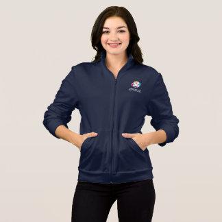 Jaqueta do velo das mulheres no marinho