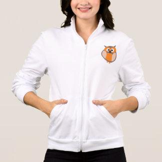 Jaqueta engraçada da coruja dos desenhos animados  camiseta
