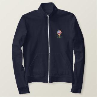 Jaqueta Esportiva Bordada Bandeira e Golfball