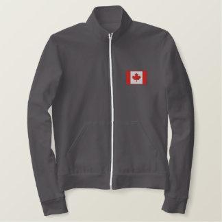 Jaqueta Esportiva Bordada Equipa de hóquei canadense feita sob encomenda