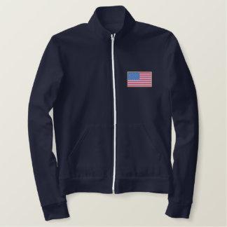 Jaqueta Esportiva Bordada EUA Bandeira