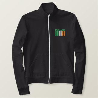 Jaqueta Esportiva Bordada O dia Ireland de St Patrick embandeira a camisola