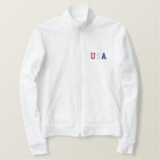 Jaqueta Esportiva Bordada Os EUA bordaram a camisa