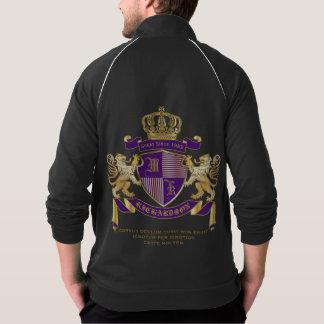 Jaqueta Faça seu próprio emblema da coroa do monograma da