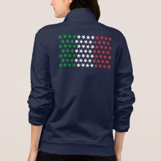 Jaqueta Inspirado pela bandeira italiana. Edição das