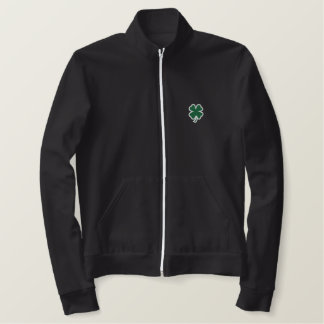 Jaqueta irlandesa verde do trevo
