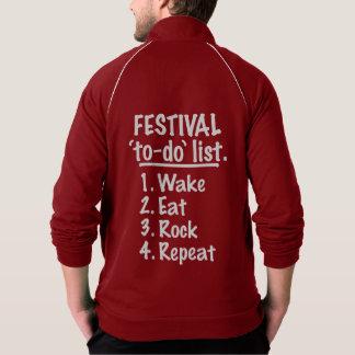 Jaqueta Lista do tumulto do ` do festival' (branca)