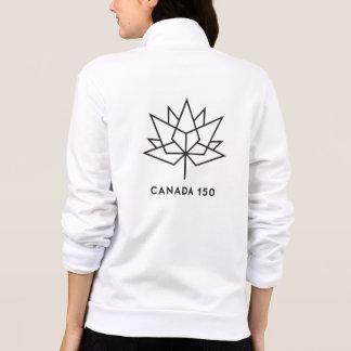 Jaqueta Logotipo do oficial de Canadá 150 - esboço preto