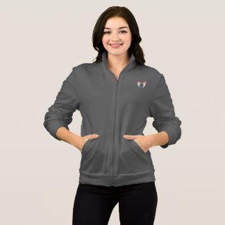 Jaqueta Logotipo e mãos cinzentos da camisola YACF com