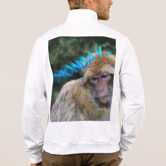 Jaqueta Macaco triste sobre segunda-feira