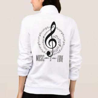 Jaqueta Notas musicais do melómano |