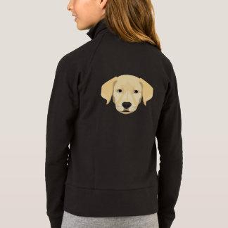 Jaqueta Ouro Retriver do filhote de cachorro da ilustração