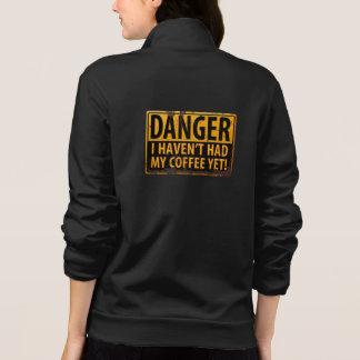 """Jaqueta """"PERIGO, eu não tive meu café ainda!"""" Sinal"""