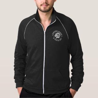 Jaqueta preta da trilha de RAM, roupa americano