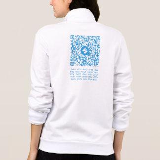 Jaqueta QR-Roupa do SUMO, QR-Código traseiro/texto, 1:1