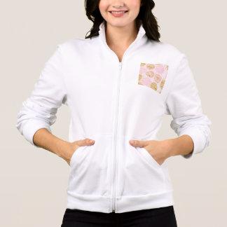 Jaqueta Teste padrão floral moderno, ouro, rosa, branco,