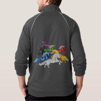Jaqueta Unicórnios selvagens coloridos da ilustração