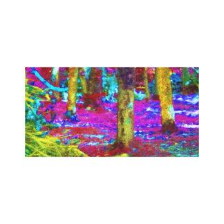 Jarda abstrata Petrified Impressão De Canvas Esticada