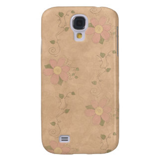 Jardim 3G/3GS floral do vintage Capa Samsung Galaxy S4