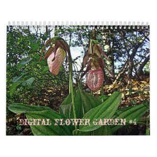 Jardim #4 de Digitas do calendário