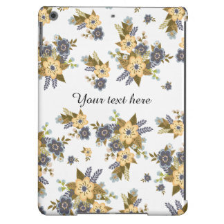 Jardim amarelo e azul floral capa para iPad air
