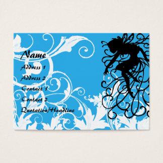 Jardim branco mágico - personalizado cartão de visitas