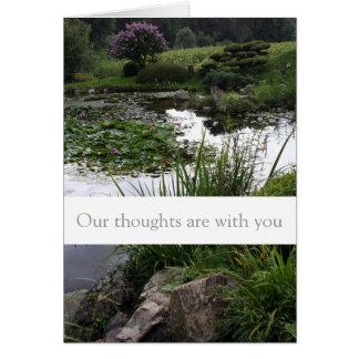 Jardim calmo - cartões de simpatia