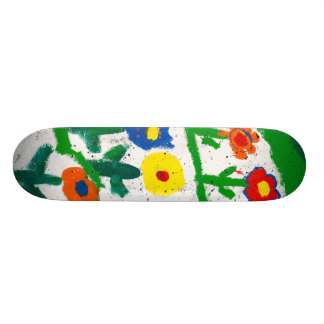 Jardim colorido shape de skate 18,4cm