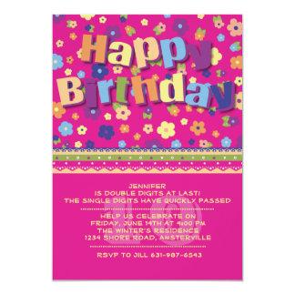 Jardim - convite de aniversário da variedade