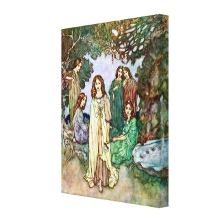 Jardim da arte de Edmund Dulac do paraíso Impressão Em Tela Canvas