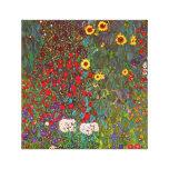 Jardim da fazenda de Gustavo Klimt com canvas dos  Impressão Em Tela Canvas