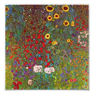 Jardim da fazenda de Gustavo Klimt com impressão d Foto Arte