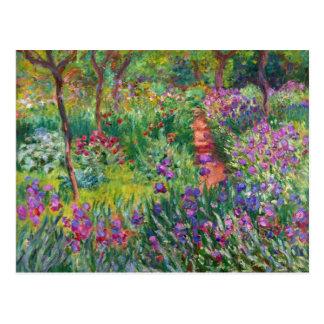 Jardim da íris de Monet no cartão de Giverny Cartão Postal