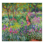 Jardim da íris de Monet no impressão da foto de Gi