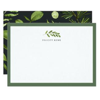 Jardim da meia-noite cartão liso personalizado dos