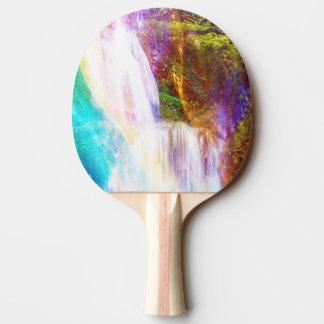 Jardim da menina do arco-íris raquete de ping pong