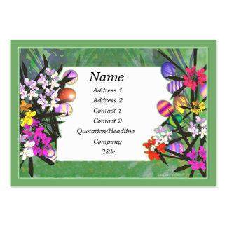 Jardim da páscoa - carnudo cartão de visita grande