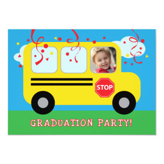 Jardim de infância ou foto Invitat da graduação do Convite 12.7 X 17.78cm