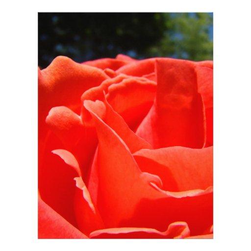 Jardim de papel da rosa vermelha de Scrapbooking Papel Timbrado