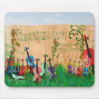 Jardim do violino mousepad