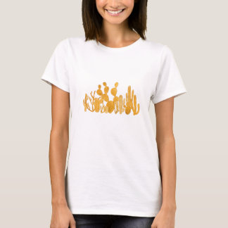 Jardim dourado do cacto camiseta