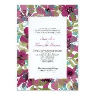 Jardim elegante | da aguarela que Wedding Convite 12.7 X 17.78cm