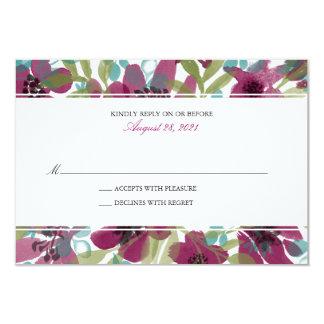 Jardim elegante | RSVP Wedding da aguarela Convite 8.89 X 12.7cm