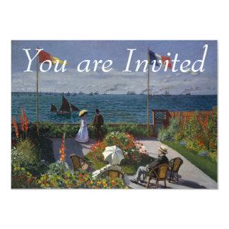Jardim em Sainte-Adresse por Claude Monet Convite 11.30 X 15.87cm