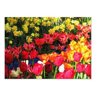 Jardim ensolarado convite 12.7 x 17.78cm